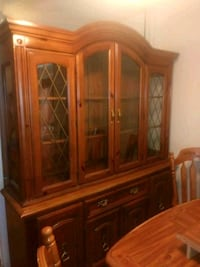 brown wooden china buffet hutch Lewisville, 75057