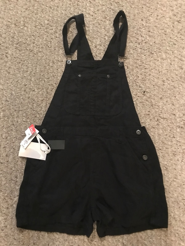 3bff825f73f8 Used Black denim jumper suit brand new with tag for sale in North Vancouver  - letgo