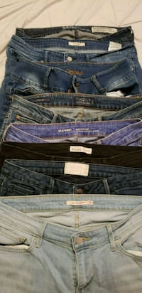 two black and blue denim jeans Rockville, 20850