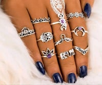 10 piece ring set $15.00 sizes vary Airdrie, T4B 3C5