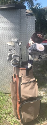 Golf clubs with bag.  Tampa, 33611