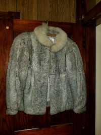 gray and white fur jacket Lehighton, 18235