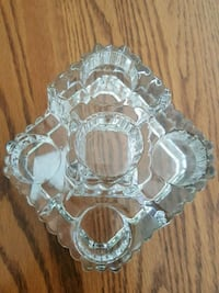 Solid glass 5 candle holder Atlantic County, 08330