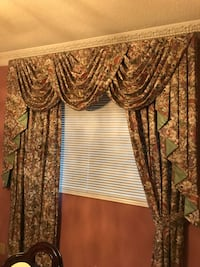 Floral fabric window  curtains
