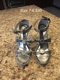 Baby Phat silver shoes size 7-8. Toronto, M3H 4M9