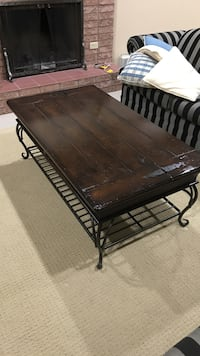 rectangular brown wooden coffee table Vaughan, L4L 6X1