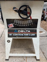 "Delta 10"" Contractor's Saw Series 2000 Blue Island, 60406"