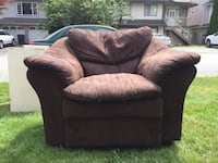 black fabric sofa chair with throw pillow Port Coquitlam, V3B 2A3