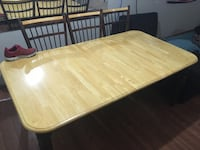 Big dinning table with 6 chairs  Calgary, T3B 0H8