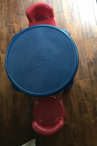 Little tikes plastic table and 2 chairs