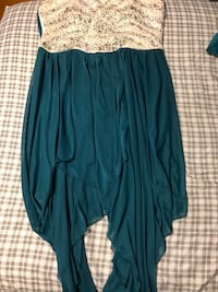 women's beige and teal studded high low dress Hagerstown, 21740