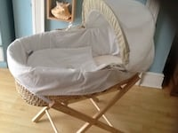 baby's brown wicker bassinet Birmingham, B24 9DY