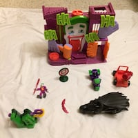 purple and green the joker toy house with batman and joker action figures Cherry Grove, 49601