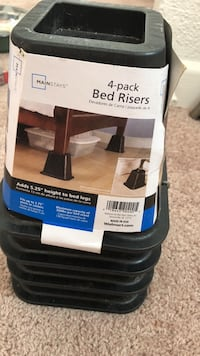 Brand new four pack Bed Riser. It adds 5.25 inches ht to bed legs. Richmond, 23220