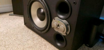 Two Mirage LF-100 Powered Subwoofer