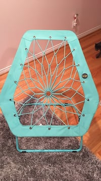 teal bungee chair
