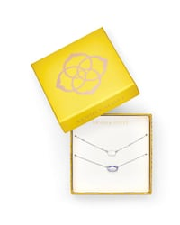 Kendra Scott Fern & Ever Gray dichroic Necklaces Gift Set In Silver Austin