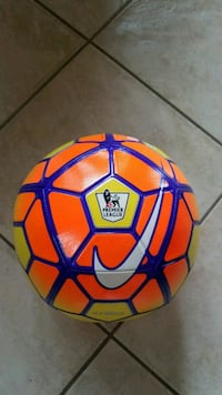 orange and yellow Nike Premier League soccer ball Niagara Falls, L2H 3J8