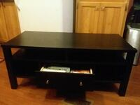 black wooden TV stand with mount Tahlequah, 74464