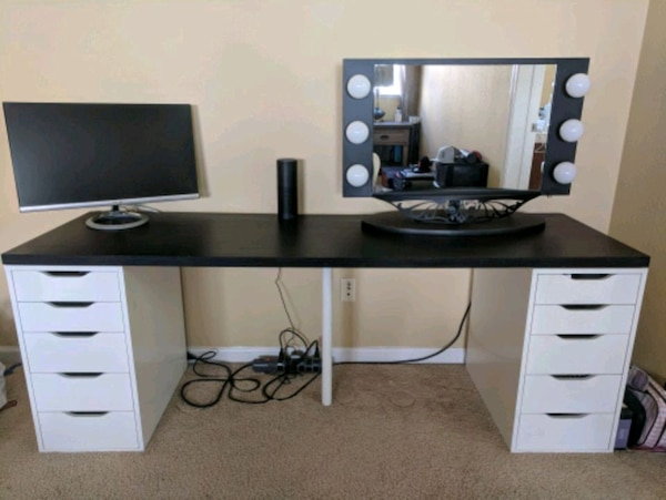 Used Linnmon Alex Ikea Desk And Drawers For Sale In San Jose Letgo