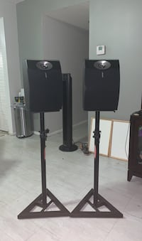 Two Stereo system's and with both stands