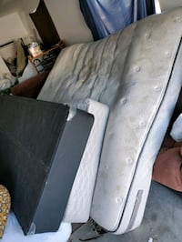 Free Very dirty king size Posturepedic Mattress and boxsprings
