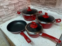 Four piece red nonstick  54 km