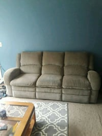 brown fabric 3-seat sofa Chicago, 60608