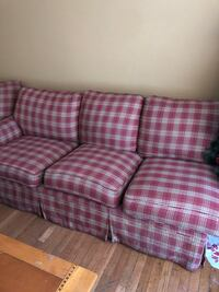 red and white plaid 3-seat sofa Providence, 02908