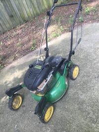 John Deer JS63c commercial push mower. 3 speed transmission. Starts on first pull. 1 issue/front right caster won't lock. Still using and ready to mow but taking up space now  Henrico, 23075