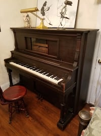 brown wooden upright piano with chair Briarcliff Manor, 10510