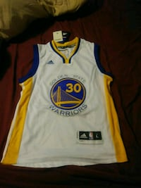 white and blue Adidas Golden State Warriors jersey Raleigh, 27604