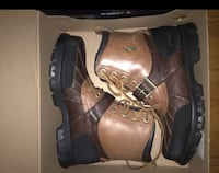 pair of brown leather work boots Silver Spring, 20904
