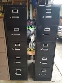 5 Drawer File Cabinets for Sale - Black (2 Available) Martinez