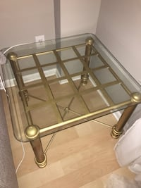 Coffee table+ side table with gold steel base 309 mi