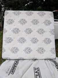 white and black floral textile king size mattress  Fort Myers