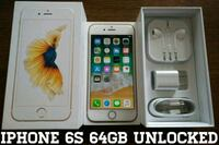 Gold Iphone 6S UNLOCKED 64GB w/ Box & Accessories  Arlington