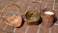 3 Wicker Baskets For Plants and Display Bethesda, MD, USA