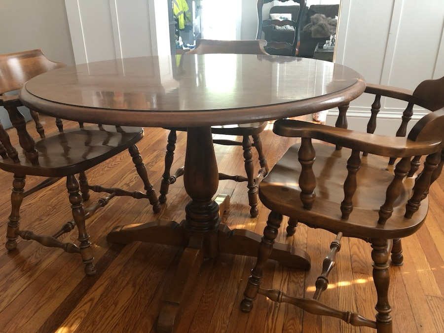 used ethan allen dining table and chairs for sale in norfolk letgo rh tr letgo com