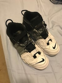 pair of white-and-black Nike basketball shoes Fairburn, 30213