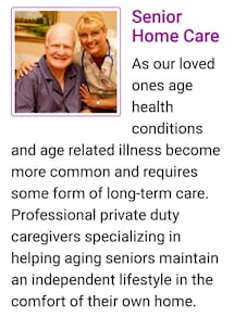 Private duty sitter for elderly and the disabled.