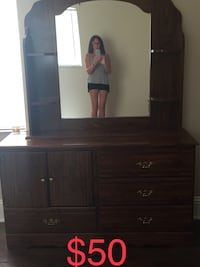 brown wooden dresser with mirror 836 mi