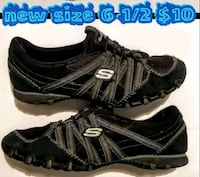 pair of black-and-white Adidas running shoes Las Vegas, 89169