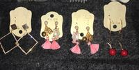 Set of 4 earrings pink gold Fairfax