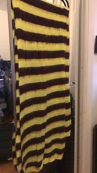bright yellow and maroon scarf Boston, 02135