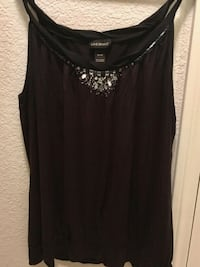 Lane Bryant Woman's tank top with Jewel accessorie