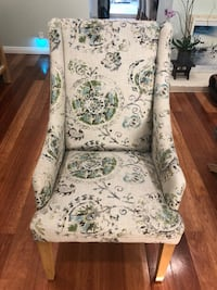 white and gray floral padded armchair Irvine, 92604