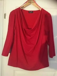 Ny red bluse