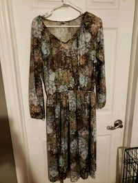 brown and black floral long sleeve dress Mississauga, L5N 3S2