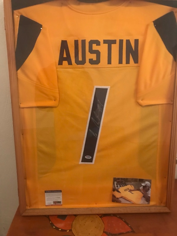 best website 84a52 1c648 Used TAVON AUSTIN AUTOGRAPHED WVU JERSEY for sale in ...